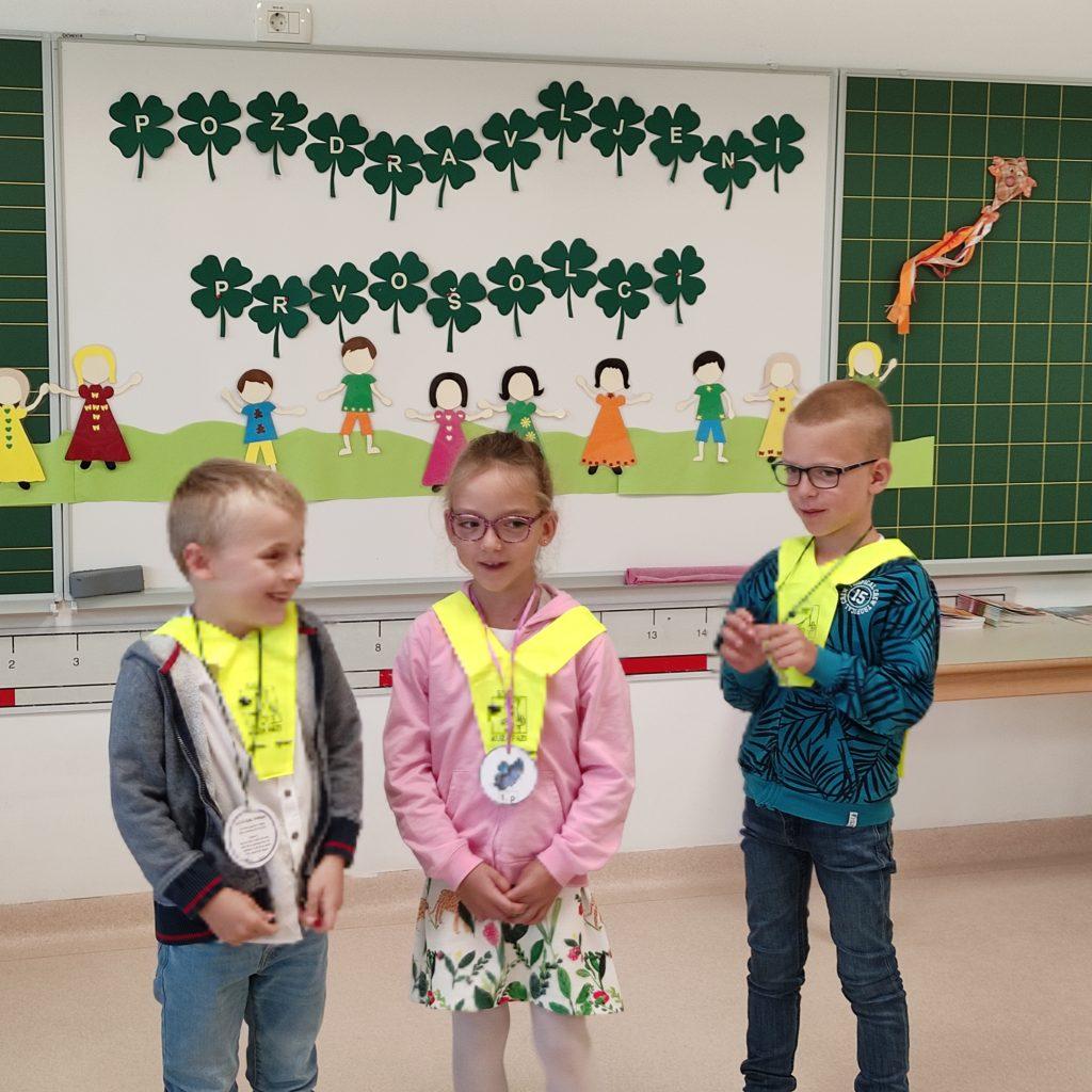Utriniki prvošolcev šole Polica